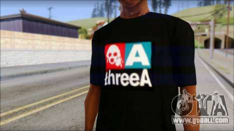 ThreeA T-Shirt for GTA San Andreas third screenshot