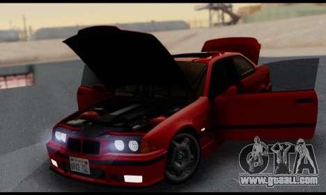 BMW M3 E36 1994 for GTA San Andreas upper view