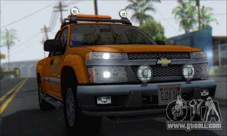 Chevrolet Colorado Cleaning for GTA San Andreas right view