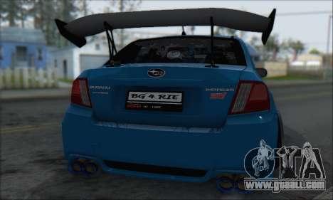 Subaru Impreza WRX STI 2010 for GTA San Andreas inner view