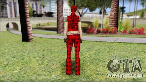 Rock Chicks Red Ped for GTA San Andreas second screenshot