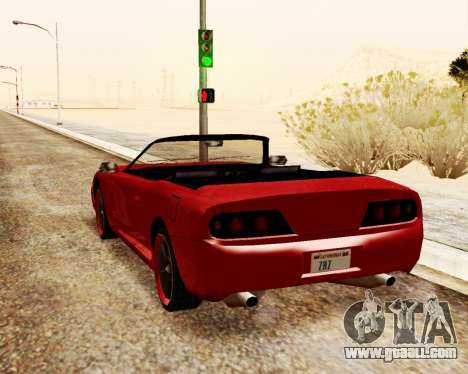 Jester Convertible for GTA San Andreas back left view