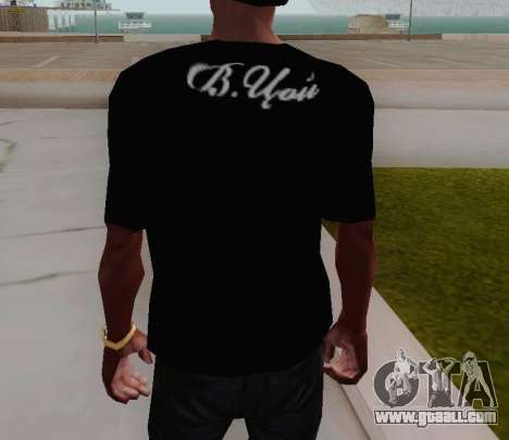 T-shirt c Viktor Tsoi for GTA San Andreas third screenshot