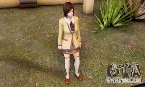 Kokoro wearing a school uniform (DOA5) for GTA San Andreas sixth screenshot