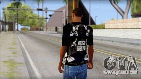 A7X Deathbats Fan T-Shirt Black for GTA San Andreas second screenshot