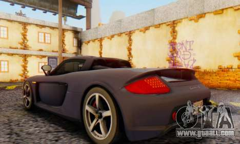 Porsche Carrera GT 2005 for GTA San Andreas back left view