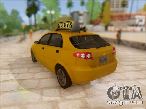 Chevrolet Lacetti Taxi for GTA San Andreas back left view
