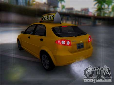 Chevrolet Lacetti Taxi for GTA San Andreas bottom view