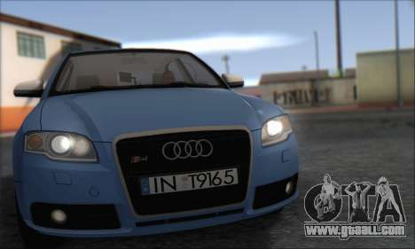 Audi S4 4.0 Quattro 2006 for GTA San Andreas left view