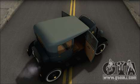 Ford T 1927 for GTA San Andreas side view