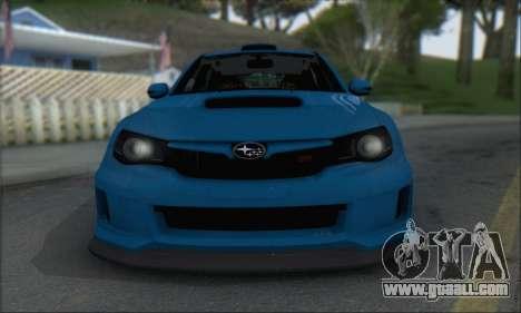 Subaru Impreza WRX STI 2010 for GTA San Andreas left view