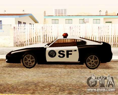 Jester Police SF for GTA San Andreas left view