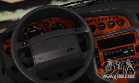 Aston Martin V8 Vantage V600 1998 for GTA San Andreas inner view