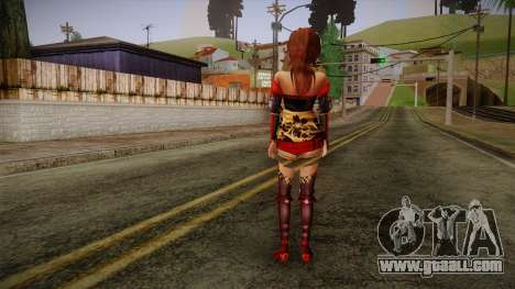 Kai from Samurai Warriors 3 for GTA San Andreas second screenshot