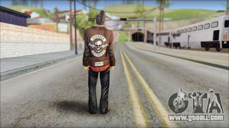 Biker from Avenged Sevenfold 3 for GTA San Andreas second screenshot