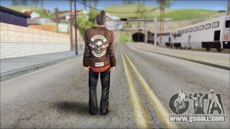 Biker from Avenged Sevenfold 3 for GTA San Andreas second screenshot