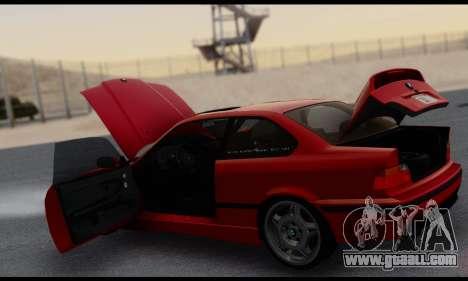 BMW M3 E36 1994 for GTA San Andreas bottom view