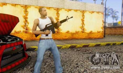 Abstract M16 for GTA San Andreas third screenshot