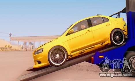 Mitsubishi Lancer Evolution X Metalhead for GTA San Andreas back left view