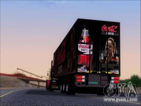 Trailer Chereau Coca-Cola Zero Truck for GTA San Andreas bottom view