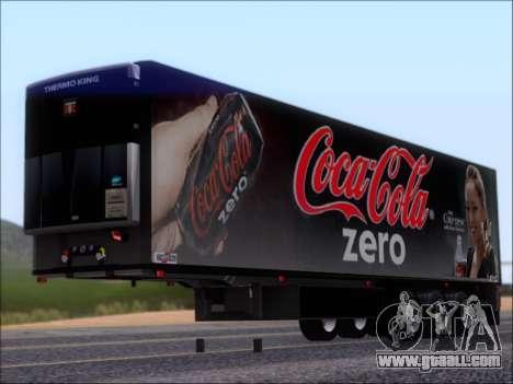 Trailer Chereau Coca-Cola Zero Truck for GTA San Andreas