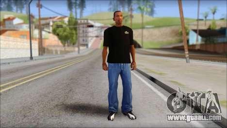 Black Izod Lacoste T-Shirt for GTA San Andreas third screenshot