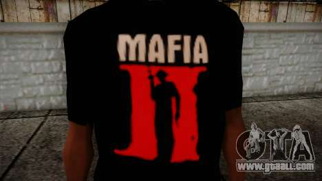 Mafia 2 Black Shirt for GTA San Andreas third screenshot