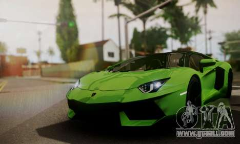Lamborghini Aventador TT Ultimate Edition for GTA San Andreas inner view