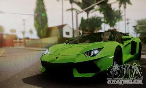 Lamborghini Aventador TT Ultimate Edition for GTA San Andreas inner view