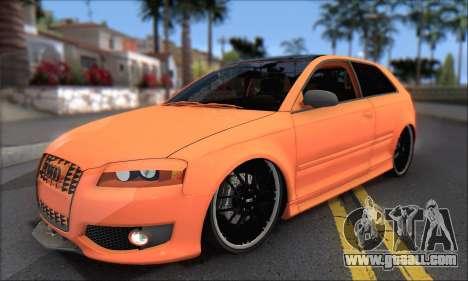 Audi S3 2006 Custom for GTA San Andreas