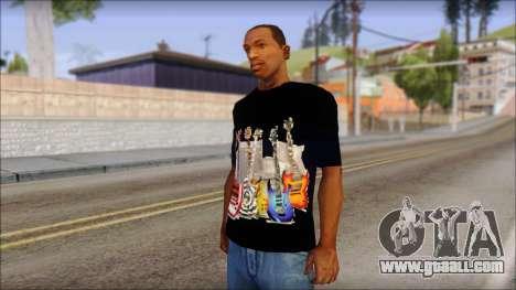 Guitar T-Shirt Mod v2 for GTA San Andreas