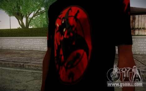 Uchiha Itachi T-Shirt for GTA San Andreas second screenshot