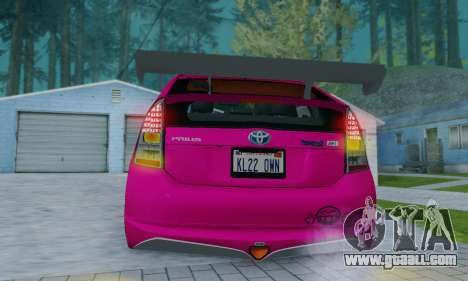 Toyota Prius Tunable for GTA San Andreas upper view