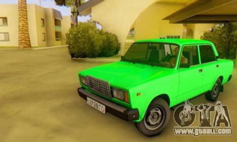 VAZ 2107 Stock for GTA San Andreas back left view