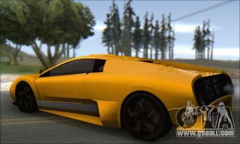 Pegassi Infernus for GTA San Andreas right view