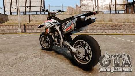 Yamaha YZF-450 v1.10 for GTA 4 back left view