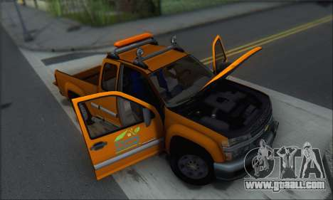 Chevrolet Colorado Cleaning for GTA San Andreas bottom view