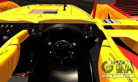 Porsche RS Spyder Evo 2008 for GTA San Andreas inner view