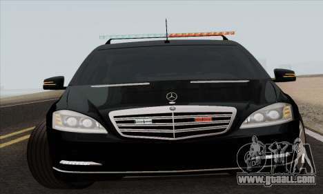Mercedes-Benz S600 W221 2012 for GTA San Andreas left view
