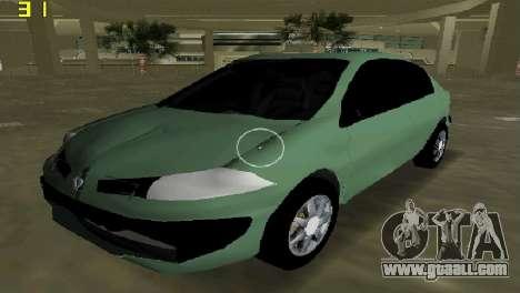 Renault Megane Sedan 2001 for GTA Vice City