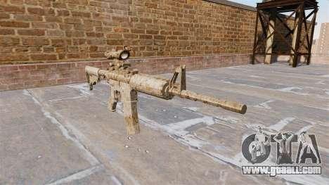 Automatic carbine ME Figure beige Camo for GTA 4