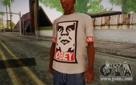 Obey Shirt for GTA San Andreas