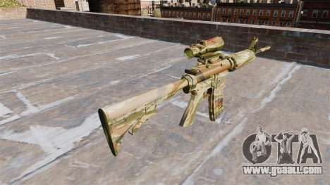 Automatic carbine MA Green cane Camo for GTA 4 second screenshot