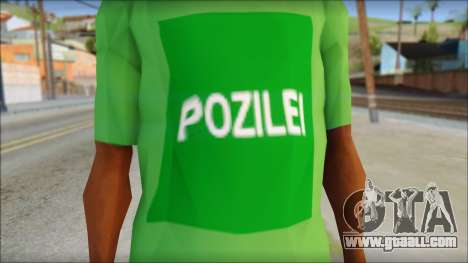 Pozilei T-Shirt for GTA San Andreas third screenshot
