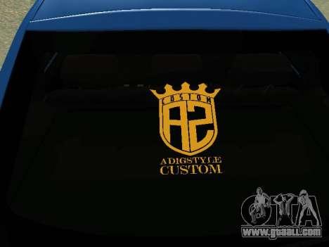 Lada Granta Liftback for GTA San Andreas inner view