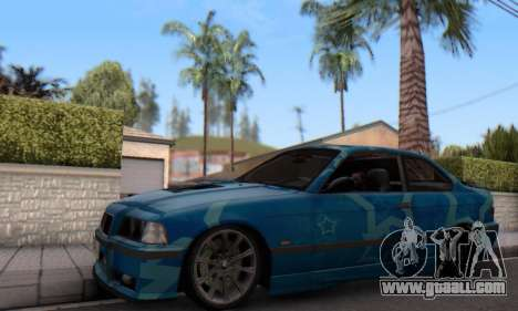 BMW M3 E36 Coupe Blue Star for GTA San Andreas left view