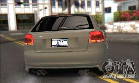 Audi S3 2006 Custom for GTA San Andreas left view