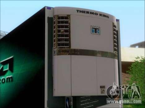 Trailer AMD Phenom X4 for GTA San Andreas back view