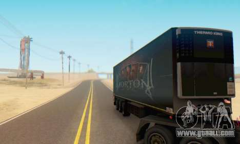 Trailer Chereau Morton Band 2014 for GTA San Andreas back view
