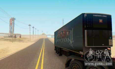 Trailer Chereau Morton Band 2014 for GTA San Andreas back view